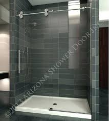 sightly arizona shower doors heavy 3 8 slider heavy 3 8 glass with round roller bar sightly arizona shower doors