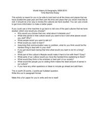 actfl standards for foreign language instruction unit 9 time machine essay