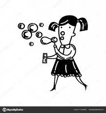 かわいい女の子イラストの泡を吹いて ストックベクター Oriu007