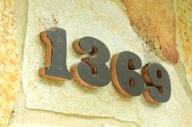 wooden house numbers sign maker number signs in for designs 13