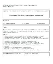 Design Safety Report Template Templates Free Download Safety