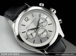 buy french connection chronograph silver leather strap unisex french connection chronograph silver leather strap unisex watch fc1144s