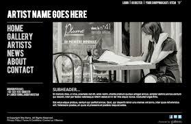 Artist Website Templates Gorgeous New Website Template For Artists Photographers