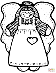christmas angels coloring pages   free coloring pageschristmas angel girl