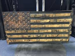 the heritage flag company bourbon whiskey barrel wood american flags american exceptionalism for your wall