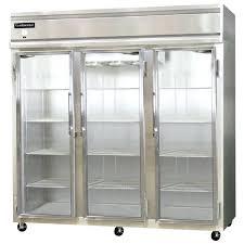 glass door refrigerator freezer continental refrigerator three section glass door reach in freezer cu ft sliding glass door refrigerator