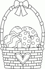 easter egg basket coloring page greatest coloring book húsvét in easter eggs coloring pages