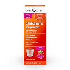 Infant Ibuprofen Chart Basic Care Childrens Ibuprofen Oral Suspension 8 Ounce