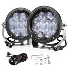 Round Led Lights Round Led Light Bar Swatow Industries 2pcs 120w 7 Inch Round Spot Light Pods Off Road Led Lights Led Fog Lights Led Work Lights Led Driving Lights For