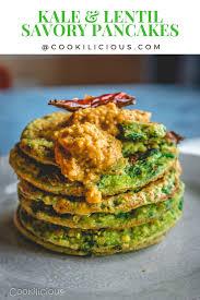Light Tiffin Recipe Kale Adai Or Kale Lentil Savory Pancakes