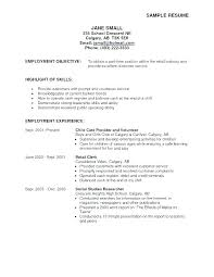 Current College Student Resume Objective On Resume For College Student