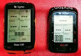 Bryton Wheel Size Chart Bryton Gps Bike Computer Rider 530 And Aero 50 Comparison