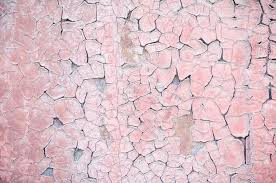 light pink ling paint on old rough concrete surface textured background photo by luckylili