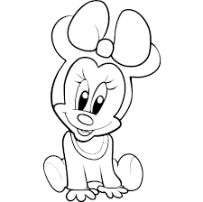 Small Picture Printable 19 Baby Minnie Mouse Coloring Pages 5795 Baby Minnie