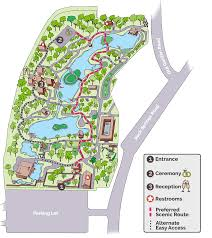 please be aware that the ceremony and reception are both outdoors some of the open water areas are surrounded by railing but not in all places