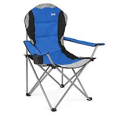 luxury padded folding cing chair heavy duty high back directors cup holder