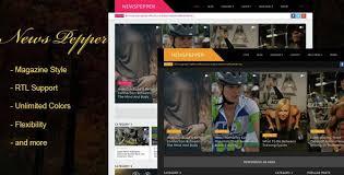 Download Free Newspepper Responsive Blogger Magazine Black