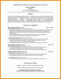 Sample Combination Resume Format Beautiful Sample Resume Templates