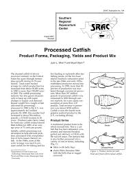 Seafood Yield Chart Processed Catfish Product Forms Packaging Yields