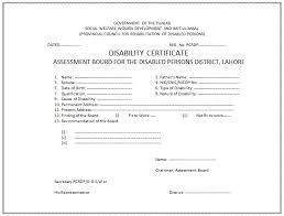 Disability Certificate Format Semioffice Com