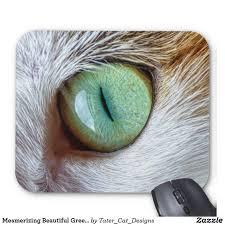 Eye Cat Design Mesmerizing Beautiful Green Cats Eye Mouse Pad Zazzle Com
