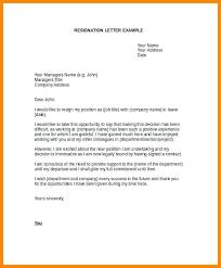 Example Business Letterhead Formal Letterhead Resignation Template Business Letter On 5