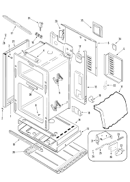 Mgr6875adb gemini 30 double oven freestanding gas range body parts diagram