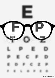Blurry Eye Test Chart Dioptric Glasses And Eyeglasses During Vision And Eyesight