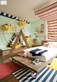 i m loving this circus themed nursery by kansas city photo stylist kate dixon via ohdeedoh especially this incredible 7 foot tall spinning ferris wheel toy