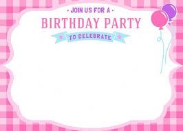Girl Birthday Invitation Template Download Now Free Printable Girls Birthday Invitations