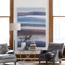 on oversized print wall art with sarah campbell wall art oversized abstract waves west elm