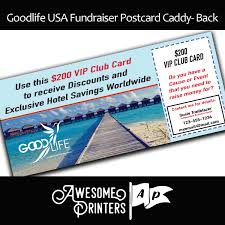 goodlife usa vip club card caddy postcard fundraiser