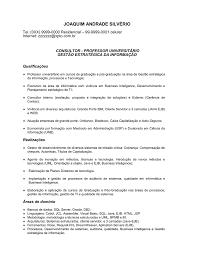 Exemplo De Curriculo Exemplo De Curriculo