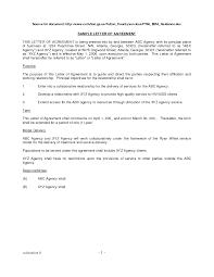 Cover Letter Business Agreement Sample Letter Sample Business