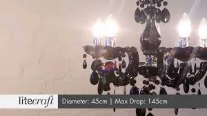 marie therese 5 light black chandelier litecraft lighting your home