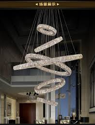 Hotel lobby lighting Luxury Luxury Acrylic Chandeliers Lighting Modern Hanging Lamps Fixtures For Indoor Home With Ring Hotel Lobby Brabbu Contract Luxury Acrylic Chandeliers Lighting Modern Hanging Lamps Fixtures