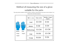 Large Gloves Size Chart Golf Glove Men Left Hand Boy White Leather Cool Soft Breathable Glove