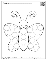 Coloring pages for toddlers, preschool and kindergarten. Set Of Spring Dot Marker Free Coloring Pages