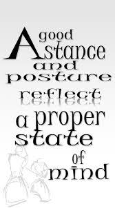 A good stance