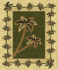 green bahamas palm tree rug 2318