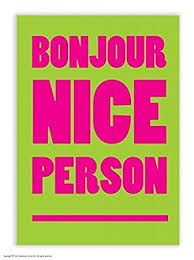 nice person office. Funny Humorous \u0027Bonjour Nice Person\u0027 Postcard Person Office I