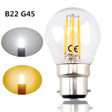 b22 g45 led filament bayonet light bulb 4w 220v led g45 b22 glass edison retro bulb for ceiling fan