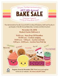 How To Have A Bake Sale 8th Annual Afc Bake Sale Contest And Auction