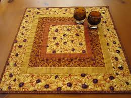 Quilted Table Topper Golden Flowers | Quit blocks, | Pinterest ... & Quilted Table Topper Golden Flowers Adamdwight.com