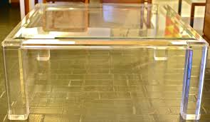 large lucite glass coffee table