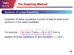 the graphing method 5 1 1 topic systems of linear equations