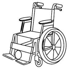 車イス車椅子塗り絵バージョンメディカルイラスト図鑑無料の