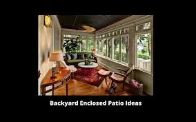 backyard enclosed patio ideas tools