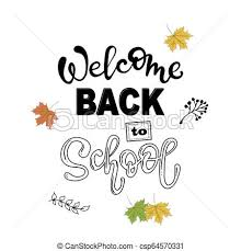 Welcome Back Graphics Welcome Back To School Lettering Phrase