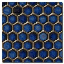 beltile cobalt blue hexagon mosaic 3 4 3 4 inch beltile tile and stone including hexagon tile and subway tile